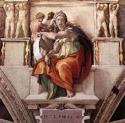 Michelangelo Buonarroti The Delphic Sibyl oil painting